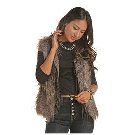 POWDER RIVER OUTFITTERS Faux Charcoal Fur Vest