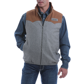 Cinch Men's Grey and Tan Concealed Carry Vest