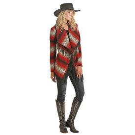 Panhandle Women's Aztec Wool Fringe Jacket