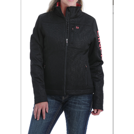 Cinch Women's Black and Pink Concealed Carry Bonded Jacket