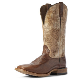 Ariat Men's Red Brown /Tarnished Alabster Cowhand Boot C3