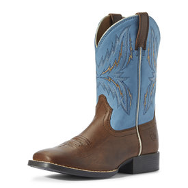 Ariat Children's/Youth's Billy Brown/Wild Blue Arena Rebound Boot C3