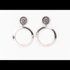 West & Co. Silver Concho Hoop Earrings