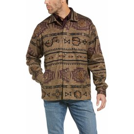 Ariat Men's Hatcher Printed Sweater Fleece Button Down