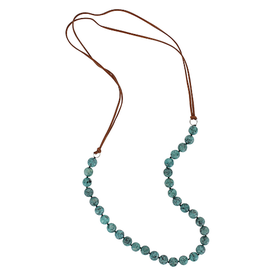 Montana Silversmiths Turquoise Marble Beaded Strand Attitude Necklace