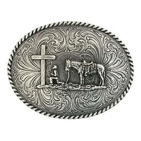 Montana Silversmiths Christian Cowboy Attitude Buckle