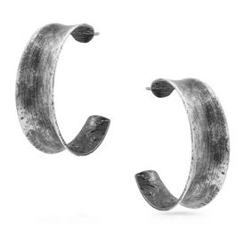 Montana Silversmiths Rocky Top Hammered Hoop Earrings