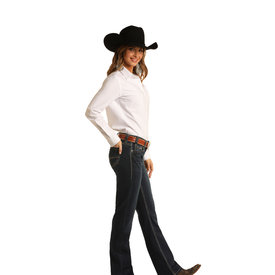 Rock and Roll Cowgirl Women's Mid-Rise Riding Jean