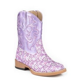 Roper Toddler's Floral Glitter Boot