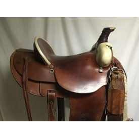 Colorado Saddlery Rawhide Front Ranch Saddle, Pad, Stirrups