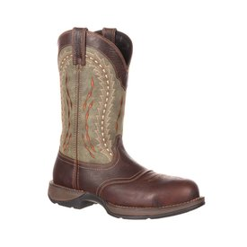 Durango Men's Rebel Composite Toe Green Western Boot C3