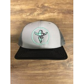 Prime Time Rodeo Grey and Black with Mint Trucker Cap