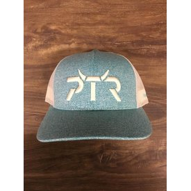 Prime Time Rodeo Turquoise and White PTR Cap