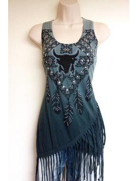 Vocal VOCAL CHARC TANK FEATHERS 14186T