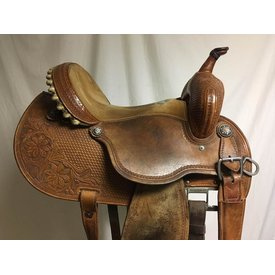 Martin Saddlery Used Natural Tooled Barrel Saddle