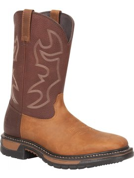Rocky Men's Rocky Original Ride Steel Toe Western Boot RKYW040 C3