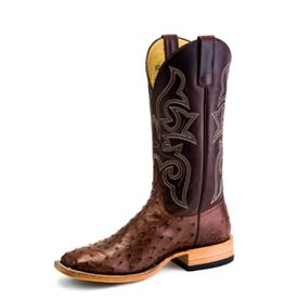 Horse Power Men's Kango Tobacco Full Quill Ostrich Boot