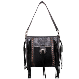Trinity Ranch Montana West Cowhide Conceal Carry Crossbody Bag