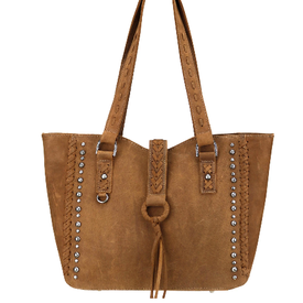Montana West Delila Leather Studded Tote