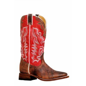 Boulet Women's Red and Brown SQ Toe Boot C3