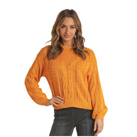Rock and Roll Cowgirl Women's Yellow Sweater