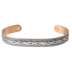 Sabona Men's Silver Barb Magnetic Cuff