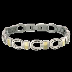Sabona Silver Horseshoe Magnetic Barcelet