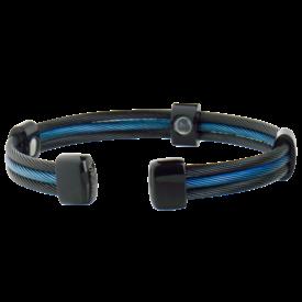 Sabona Trio Black and Blue Cable Line Cuff
