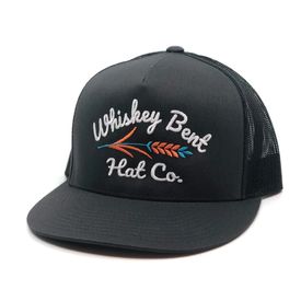 Whiskey Bent Hat Co Dark Charcoal Troubadour Cap