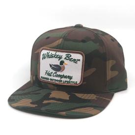 Whiskey Bent Hat Co Green Head Camo Cap