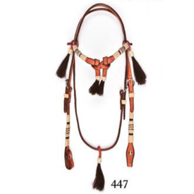 Wild West Braiding Rawhide Futurity Brow Band Headstall