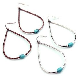 Wyo-Horse Patina Turquoise Drop Earrings