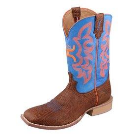 Twisted X Men's Neon Blue Hooey Boot