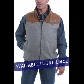 Cinch Men's Conceal Carry Grey Vest Plus Sizes