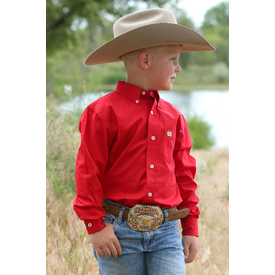Cinch Kids Red Solid Long Sleeve