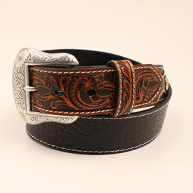 Nocona Belt Co. Men's Brown Tooled End Belt