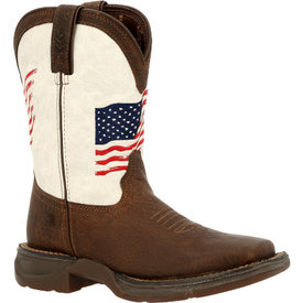 Durango Youth Brown and White Flag Boot