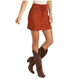 Panhandle Women's Rust Lace-Front Skirt