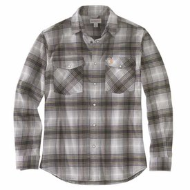 Carhartt Men's Relaxed Fit Plaid Flannel Shirt