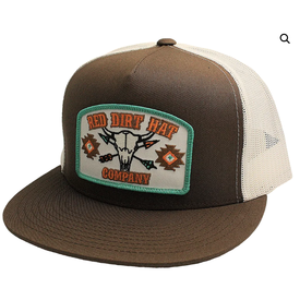 Red Dirt Hat Co Brown Skull Patch Cap
