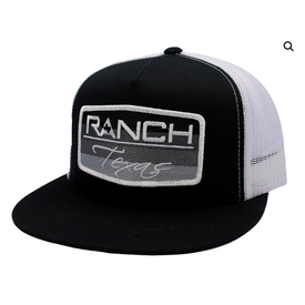 Red Dirt Hat Co Black Ranch Texas Cap