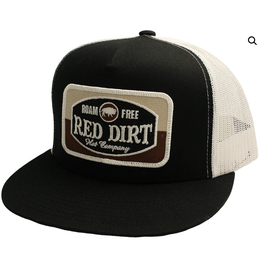 Red Dirt Hat Co Black Roam Free Patch Cap