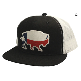 Red Dirt Hat Co Youth Black Texas Buffalo Cap