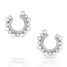 Montana Silversmiths Horseshoe Pearl Earrings