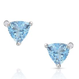 Montana Silversmiths Azure Trillion Starlight Stud Earrings