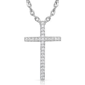 Montana Silversmiths Dazzling in Faith Cross Necklace
