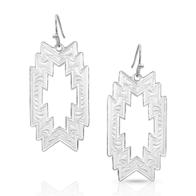 Montana Silversmiths Montana SS Thunderstorm Geometric Earrings