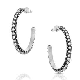 Montana Silversmiths Antiqued Beaded Hoop Earrings