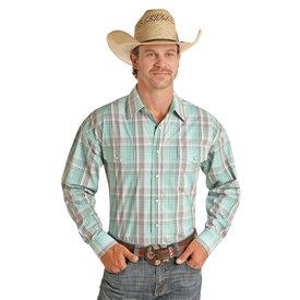 Panhandle Men's Emerald Plaid Snap Front Shirt