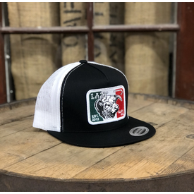 Lazy J Ranch Wear Black Mexican Flag Patch Cap